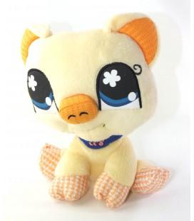 Peluche doudou Cochon jaune orange 20 cm Littlest Petshop Hasbro 2007