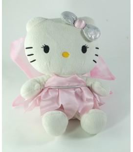 Peluche doudou Hello Kitty Fee ailes roses 25 cm Sanrio Jemini