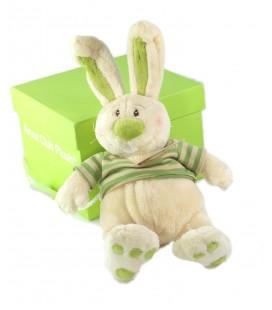 Peluche doudou Lapin blanc vert Anna Club Plush 30 cm NEUF ETIQU