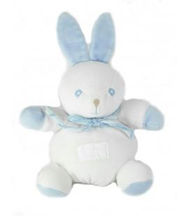 Doudou Lapin blanc bleu 22 cm TARTINE ET CHOCOLAT