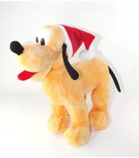Doudou peluche Pluto Noel Bonnet rouge 30 cm