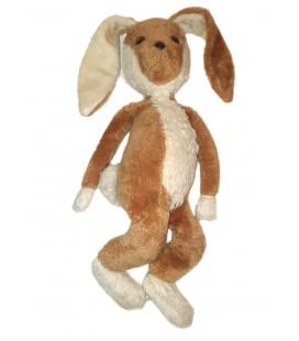 Vintage Ancienne Grande peluche lapin beige marron clair blanc 70 cm CLODREY