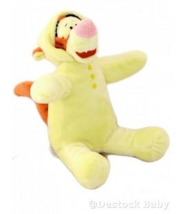 Doudou TIGROU Pyjama grenouillère jaune DISNEY Nicotoy Assis 20 cm