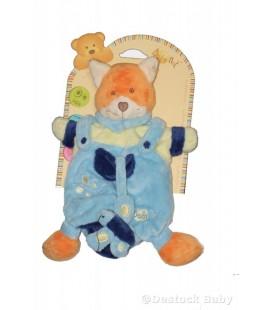 Doudou Marionnette RENARD bleu BABY NAT