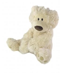 Peluche Ours blanc beige clair creme ecru nez marron brun 35 cm GUND