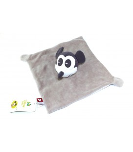 Doudou plat gris Mickey Mouse Disney Baby