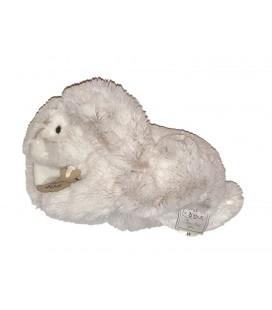 Peluche doudou lapin gris blanc chine 23 cm HISTOIRE D OURS