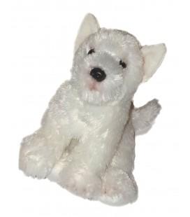 Doudou peluche Chien blanc 22 cm Gipsy