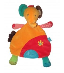 Doudou plat Elephant orange rouge soleil Safari Babyfehn Babysun
