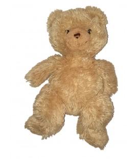 LASCAR Peluche Ours beige marron Longs poils 40 cm