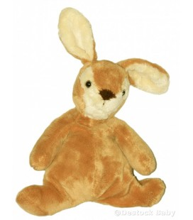 Doudou LaPIN marron beige THE PLUSH CO Idem Doudou et Compagnie 28 cm