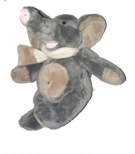 Peluche doudou Elephant gris Echarpe La Pelucherie 26 cm
