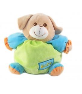 MAXITA Doudou Chien beige vert bleu orange Baby