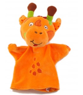 BABYMOOV Doudou Marionnette Girafe orange