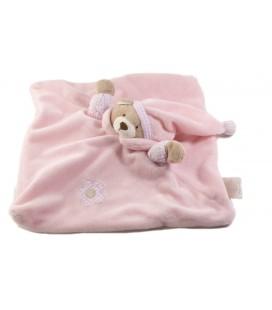 SNUGGZ Baby Blanket Doudou plat ours rose Fleur carreaux
