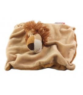 Doudou Lion beige marron ZOO DE DOUE