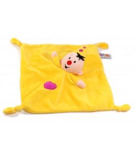 Bumba Doudou Clown Lutin jaune Coeur rose