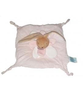 BABYNAT Doudou lapin blanc rose Layette tissu BN030