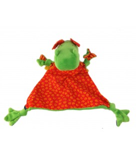 SIGIKID Doudou plat Dragon rouge vert klikla klecks