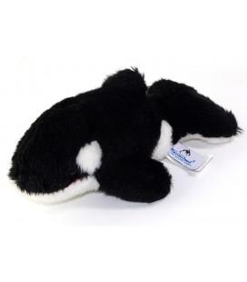 Peluche doudou Orque noire 25 cm Marineland