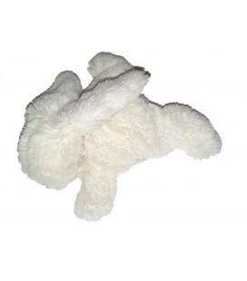 JACADI Doudou lapin blanc rose tissu Liberty 19 cm
