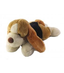 LASCAR Doudou peluche chien Beaggle marron noir blanc 32 cm
