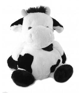 LASCAR Doudou peluche Vache blanche noire 20 cm