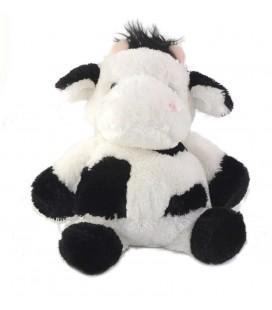 LASCAR Doudou peluche Vache blanche noire 35 cm
