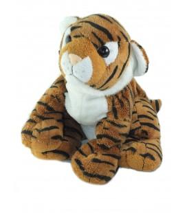 LASCAR Peluche doudou Tigre marron noir blanc 26 cm