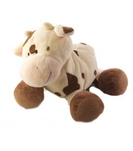 LASCAR Peluche doudou vache beige marron 22 cm