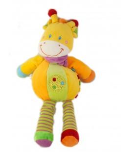 Peluche doudou Girafe orange POMMETTE 30 cm