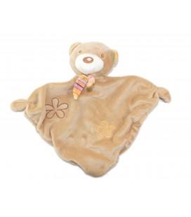 Baby Club CA Doudou plat ours beige Fleur