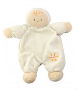 Baby Club Doudou plat Lutin beige fleur