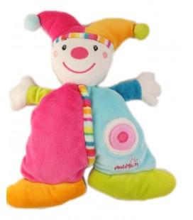 Doudou Lutin clown bleu rose BABYSUN