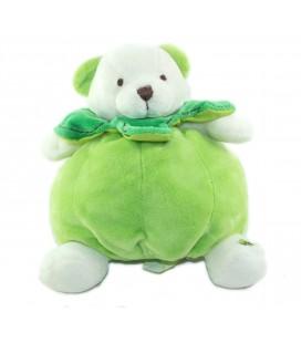 Doudou ours vert Pomme Baby Nat 16 cm