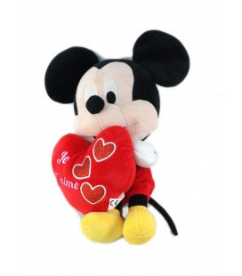 Peluche doudou Mickey coeur je t aime PTS SRL 30 cm TOMMY TOYS