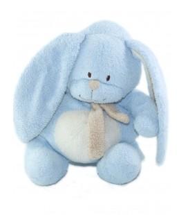 BABY CLUB Doudou Lapin bleu beige Echarpe 18 cm