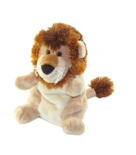 Peluche doudou Marionnette Lion beige marron TRUDI