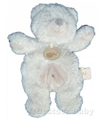 Doudou OURS gris Croix Ventre BaBY NaT' Babynat 25 cm