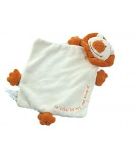 Lion orange Je suis le roi des Doudous plat Tout Compte Fait TCF