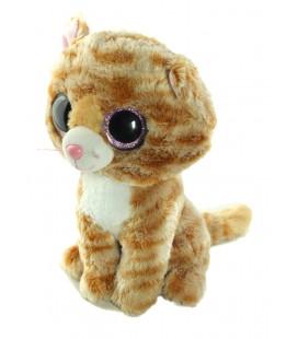 Doudou Peluche Chat roux blanc TY 25 cm