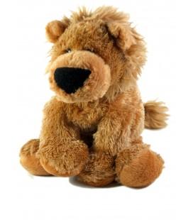 Peluche Doudou Lion marron beige 26 cm PEEKO