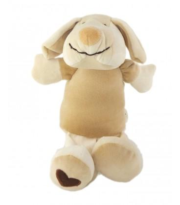 Doudou CHIEN beige DOUDI Doggy Coeurs Harmony 22 cm Ref 101014
