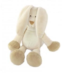 Peluche doudou Lapin beige blanc 27 cm TOODO
