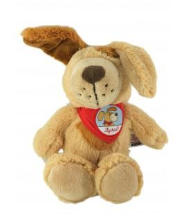 Doudou Peluche chien beige Foulard rouge SIGIKID 26 cm