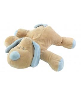 Peluche Doudou chien allonge beige bleu Animal Alley 32 cm