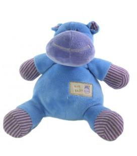 Peluche Doudou Hippopotame Animal Alley 28 cm