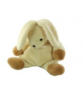 Doudou Lapin beige marron CMP 22 cm
