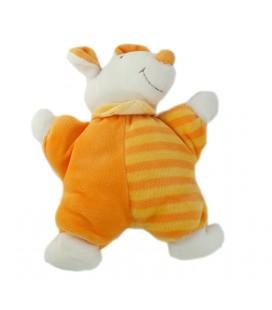 Doudou Souris orange jaune Milette Babysun 18 cm