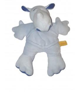 Peluche Doudou doudou RHINOCEROS hasenbommel bleu 22 cm